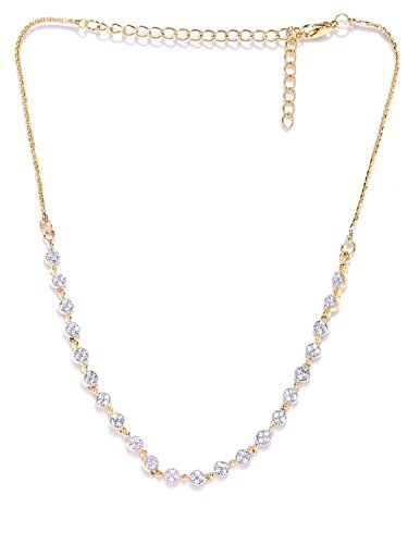Zaveri Pearls Sparkling CZ Diamond Necklace For Women - ZPFK4419
