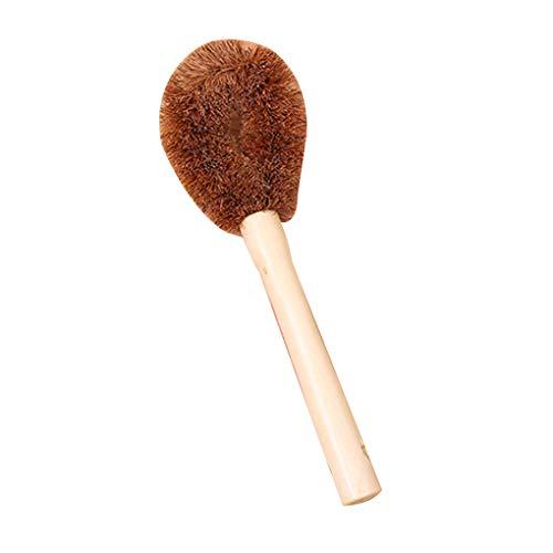 Fangfeen Non-Stick Oil Bowl Brush Coconut Fiber Long Hand Pot Washing Brush for Kitchen Cleanup