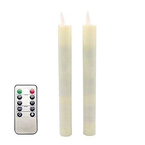 lukloy–Pack von 2LED Dancing Flame beweglichen Docht Taper Kerzen Lichterkette mit Timer-Fernbedienung Dimmer Funktion RC, für Weihnachten Hochzeit Abendessen Dekoration batteriebetrieben
