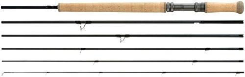 Shakespeare Oracle Exp Fliegenrute für Lachs, schwarz schwarz 3,9 m -