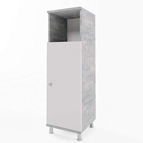 Vicco Bathroom Cabinet Fynn Bath Cabinet Concrete 95cm midi Cabinet Bathroom Furniture
