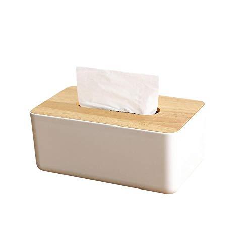 Caja de pañuelos, cubierta de madera para caja de pañuelos, dispensador de pañuelos de madera, dispensador de pañuelos para casa, oficina, coche, cubierta de pañuelos