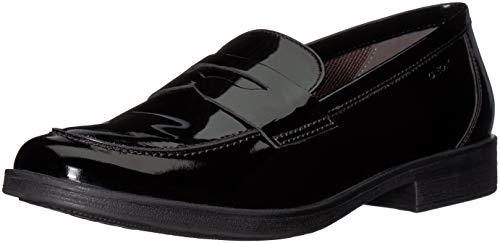 Geox J Agata D, Zapatos Cordones cuero niña, negro