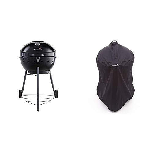 Char-Broil KettlemanTM Charcoal Barbecue Grill, Black Finish with Kettleman Grill Cover