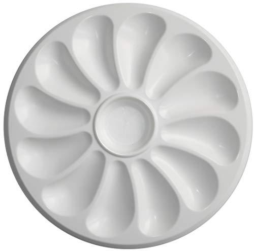 Austernteller, Kunststoff, für 12 Austern, 31 cm Durchmesser, 2 Stück