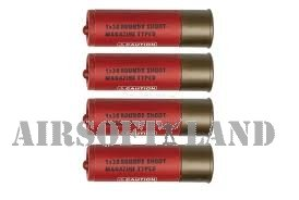 ASG Douilles Fusil à Pompe 30 Billes (x4) Nouvelle Version Adulte Unisexe, Rouge, Taille Unique
