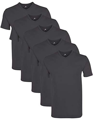 Lower East LE156 T-Shirt, Forged Iron, M, 5er-Pack -