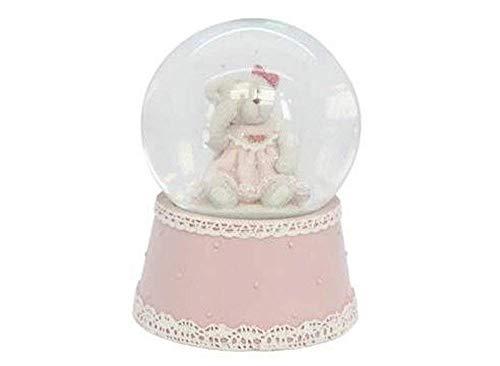 Gisela Graham Teddy Bear Socle - Rose