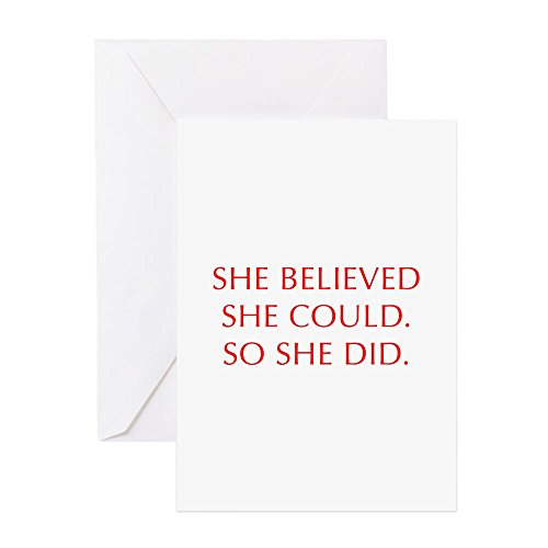 lieved-she-could-opt-red Grußkarten-Grußkarte, Note Karte, Geburtstagskarte, innen blanko, matt ()