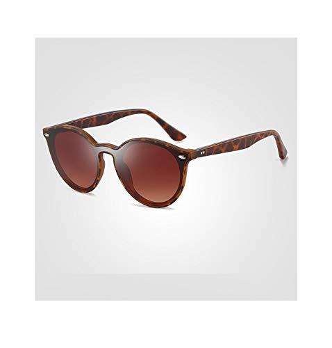 Fashian Ultra-Light TR Fashion Classic Sonnenbrille Trend großen Rahmen Vollformat Objektiv bunten Sonnenbrillen Brille (Color : Brown)
