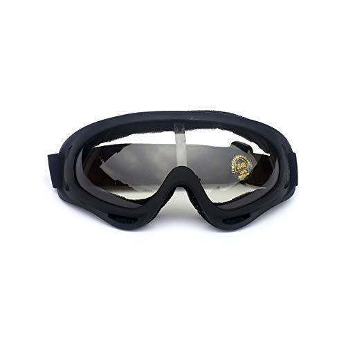 Adisaer Radbrille Transparent Outdoor Sportbrillen Motorrad Sandstrahl Reiten Brille Ski Brille Helm Brille Black Transparent Damen Herren