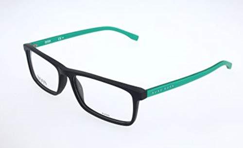 BOSS Hugo Herren Hugo Orange Brille Brillengestelle, Schwarz, 55