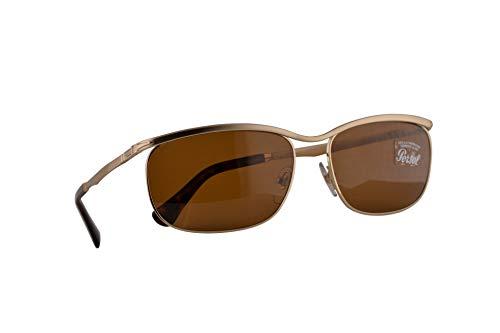 Persol 3229-S Key West II Sonnenbrille Gold Mit Braunen Gläsern 62mm Lens 107633 PO 2458S PO2458S PO2458-S