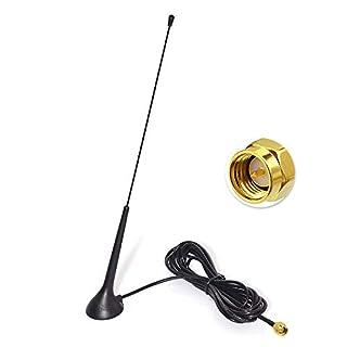 Eightwood DAB DAB+ Antenne Autoradio SMA Antenne (KFZ Magnetfußantenne) mit Antenne Extension Kabel RG174 300cm für Digitalradio Empfang Blaupunkt Beat TechniSat Pioneer Kenwood Alpine MEHRWEG