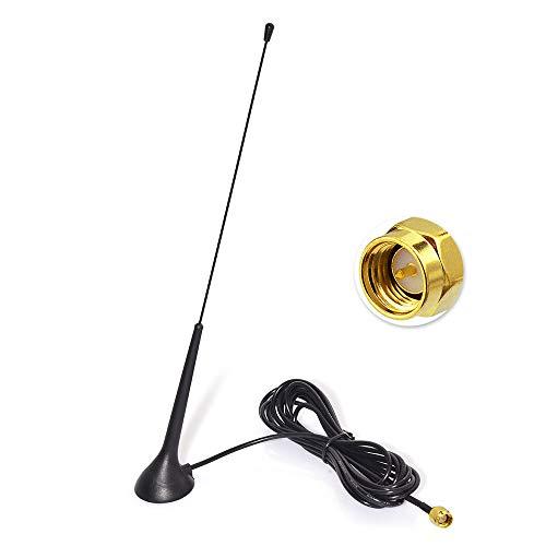 Eightwood DAB DAB+ Antenne Autoradio SMA Antenne (KFZ Magnetfußantenne) mit Antenne Extension Kabel RG174 300cm für Digitalradio Empfang Blaupunkt Beat TechniSat Pioneer Kenwood Alpine MEHRWEG -