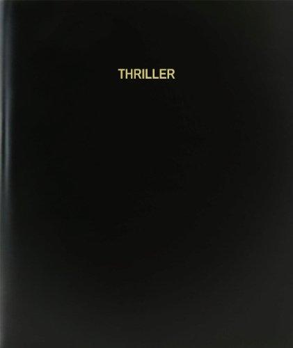 """BookFactory® Thriller libro de registro/diario/diario página–120, 8,5""""x11,"""" negro Hardbound (xlog-120–7cs-a-l-black (Thriller libro de registro))"""