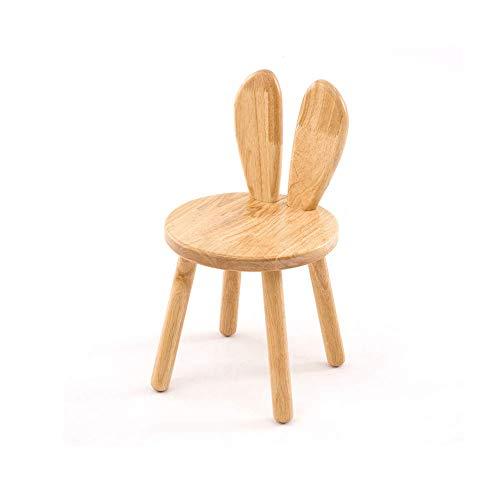 Zurück Stühle, Hocker (Faul Kleine Bank Startseite Kleine Holzbank Kreative Baby Esszimmerstuhl Kinder Lernen Stuhl Zurück Kaninchen Ohren Kleinen Hocker Garten (Größe : A))