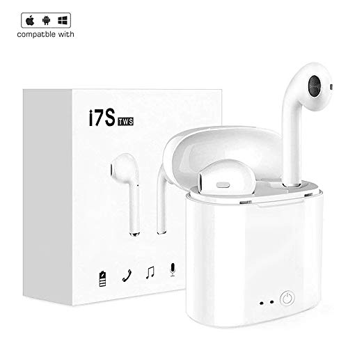 qibang2 Auricolare Bluetooth con 2 microfoni integrati ad Alta fedeltà e Custodia di Ricarica per Una Lunga Durata della Batteria. Compatibile con Tutti i dispositivi mobili e Bluetooth