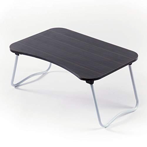 Lap Desk Stand (CZWYF Lap Desk Tray Tisch Laptop Stand Tragbarer Bett Schreibtisch Frühstückstablett für Bettcouch und Sofa mit MDF-Platte und faltbaren Metallbeinen / 23.6x15.7x11.02 Zoll (Color : Black))
