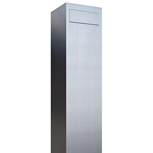 Standbriefkasten, Design Briefkasten Monolith Edelstahl - Bravios