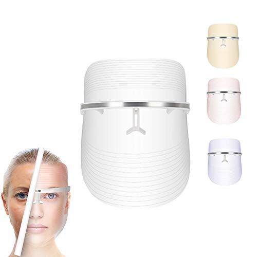 3 Color Máscara de cara LED Instrumento de belleza para mujeres y hombres Dispositivo de tratamiento de SPA facial Anti acné Eliminación de arrugas Aumento de colágeno Dispositivo de rejuvenecimiento