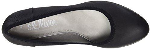 s.Oliver 22301, Chaussures à talons - Avant du pieds couvert femme Noir (BLACK 001)