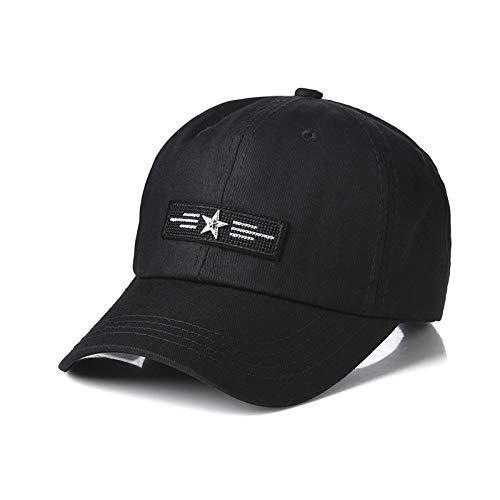 Hut Männer Flut Marke Schwarze Kappe Sommer Baseballmütze lässig wildes Mädchen gebogen Hut Straße einfachen schwarzen Erwachsenen