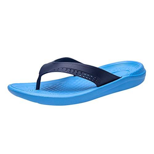 Pingtr - Unisex Herren Damen Sandalen Hausschuhe,Männer Arbeiten beiläufige Schuhe Feste Strand-Sandelholz-Breathable Flipflops-Schuhe um