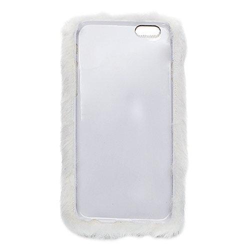 Wkae Case Cover Faux-Pelz-PC-Schutzhülle für iPhone 6 Plus &6s plus ( Color : White ) White