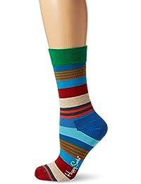 Happy Socks Multi Stripe Sock, Calcetines Casual para Mujer (Pack de 6)