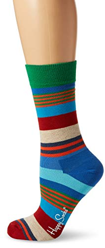 Happy Socks Multi Stripe Sock, Chaussettes Femme (lot de 6) Happy Socks