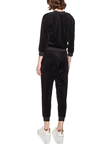 Juicy Couture Velour Long Sleeve, Combinaison Femme Black (Pitch Black)