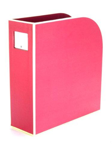 Semikolon (352735) Stehsammler A4 pink (rosa) | Zeitschriften-Sammler und Dokumenten-Ordner | Für A4 | Format: 10,5 × 26,0 × 31,0 cm