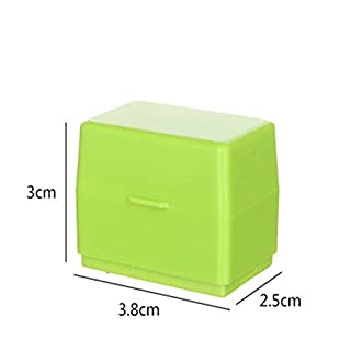 Aquiver Roller Stamps Guard Your ID Mini Roller Stamp Perfect for Privacy Protection (Green)