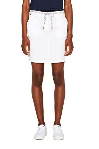 ESPRIT Damen 049EE1D005 Rock, Weiß (White 100), Herstellergröße: 40