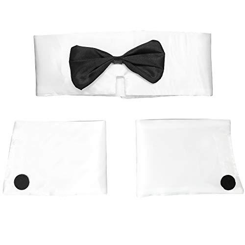 Set mit Kragen und Manschetten für Männer, Tänzerin, sexy Stripper Playboy Kostüm Zubehör für Halloween, Junggesellenabschiede, 1 - Herren Playboy Kostüm