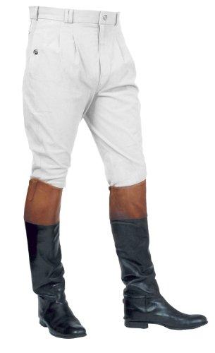 Mark Todd Auckland - Pantaloni da equitazione da uomo, con pieghe anteriori Blanco (White)
