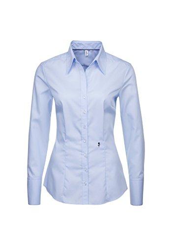 Seta adesivi rosa nera-camicia da donna City 1/1-lungo (60.080613) Blau(11) 42