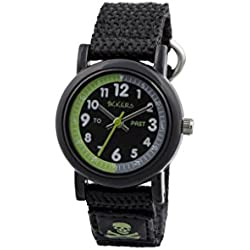 Tikkers children's quartz Watch with black Dial analogue Display and black silicone Strap TK0114