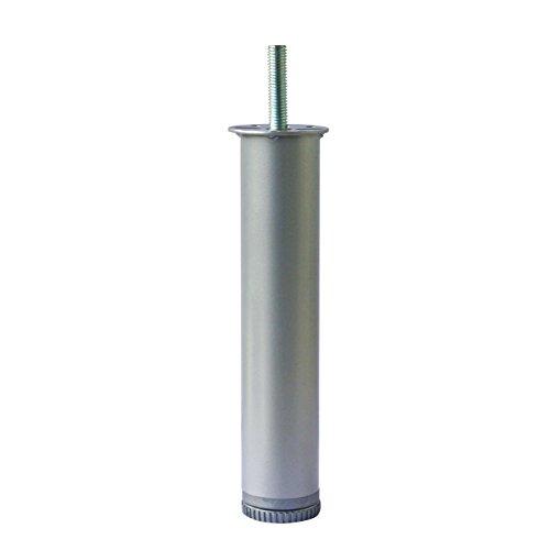 Home System 674204Fuß rund aus Metall für Netze Lattenrost Bett ø 40–Höhe 20cm. Grau, Grau (Matratze Füße)
