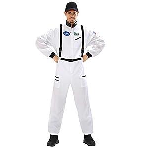 WIDMANN Disfraz de Adultos Astronauta, Blanco, Small
