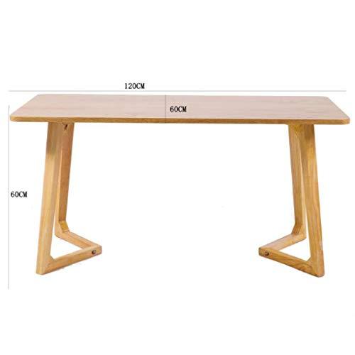 M-JH Table d'appoint, Table Basse européenne décontractée Salon Balcon Chambre Restaurant Café Cake Room Table Basse Moderne en Bois Massif (Taille : H)