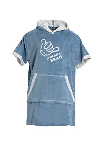 Revise Surf Poncho mit Kapuze - Bademantel - Badetuch - Poncho Handtuch - Damen Herren Kinder - mit Bambusfaser - Blau Gr. 140/160