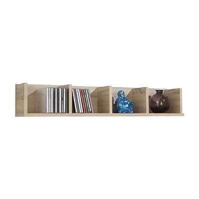 FMD Wall Mounted Shelf Point 4, 92.0 x 16.5 x 17.0 cm, Oak