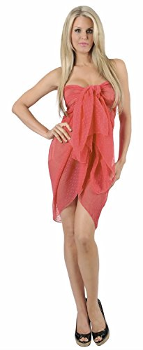 Strand Badeanzug Bikini Rock leichte feste Ebene Sarong wickeln Pareo vertuschen Rosa