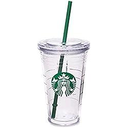 Starbucks Vaso acrílico transparente con aislamiento, 470 ml (vaso portátil grande)