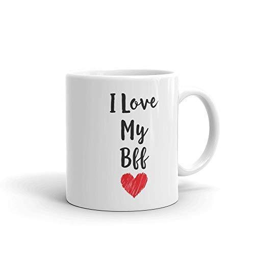 ZonaloDutt Ich Liebe Meinen BFF-Becher Freundschaftsgeschenk-Becher BFF-Paar-Becher Bester Freund-Becher S¨¹?er BFF-Teetasse BFF-Becher Idee Kaffeetasse Geschenkidee Teetasse Geschenk f¨¹r BFF (Liebe Meine Ich Bff)