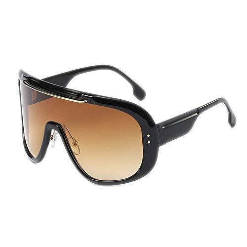 OULN1Y Sport Sonnenbrillen,Vintage Sonnenbrillen,Oversized Cover One Piece Goggle Sunglasses Women Fashion Big Frame Men Gradient Windproof Shades Metal