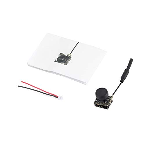 800TVL CMOS Mini FPV Kamera CAM RC Spielzeug Teile Zubehör mit 5,8G 40CH 25 mW Peitsche Antenne für RC Racing Drone (Schwarz) ()