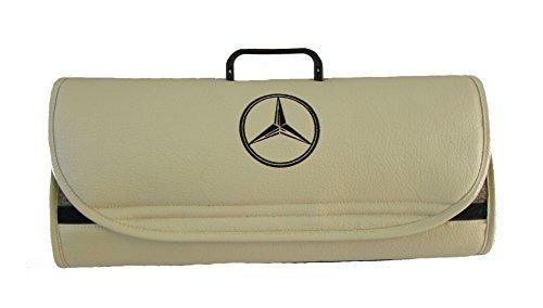 Preisvergleich Produktbild Mercedes-Benz Auto, Van, Truck Leder beige Kofferraum Organizer-passend für alle Modelle